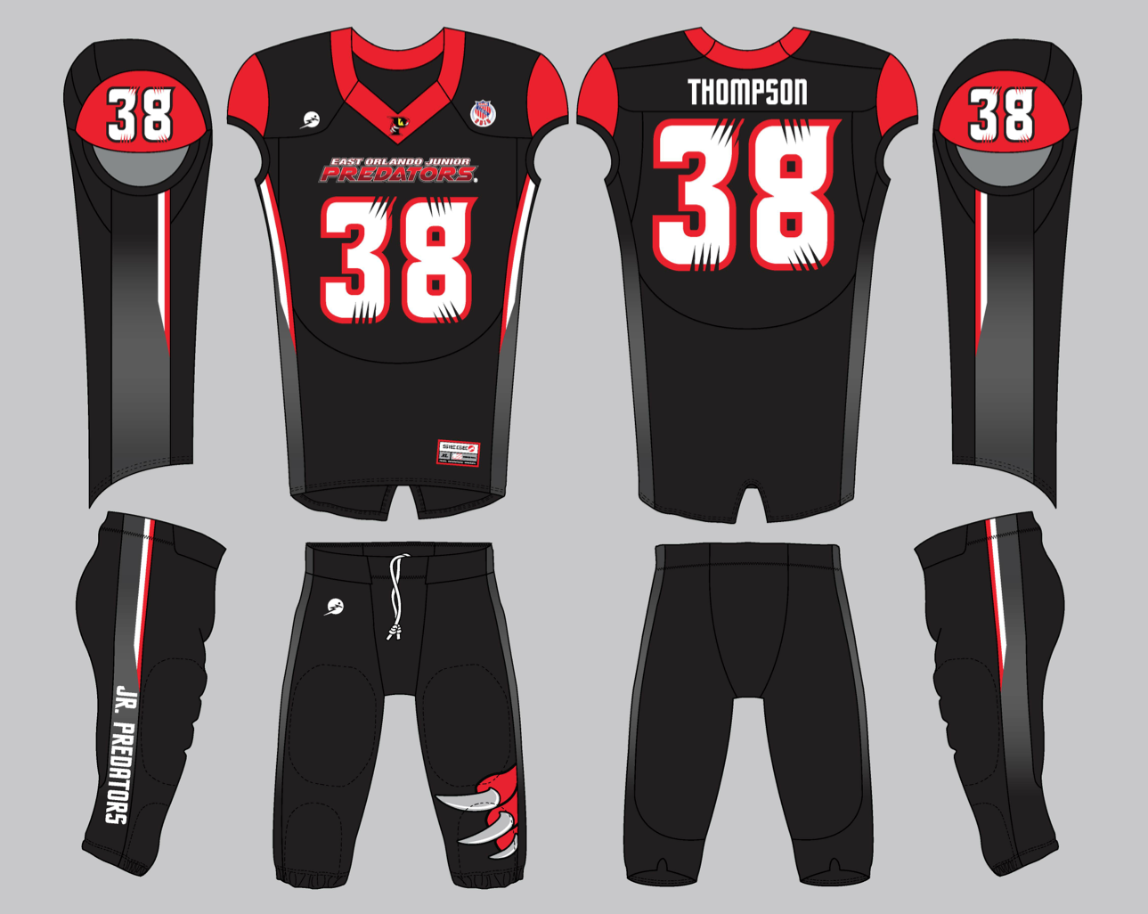 Image of Official 2015 East Orlando Jr Predators Uniforms