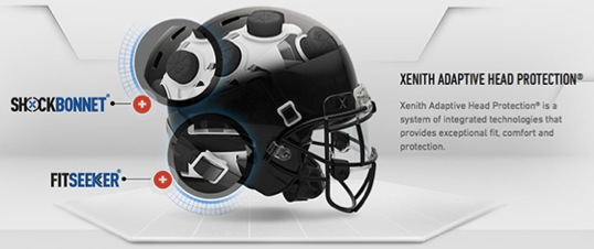 Image of East Orlando Junior Predators' Xenith Helmet worn by all players