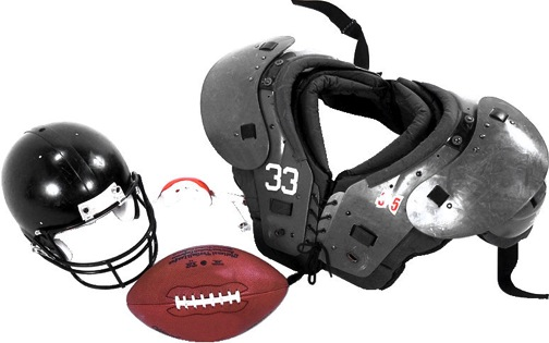 Image of youth football equipment