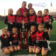 image of East Orlando Junior Predators 8u Cheer squad winning 1st place