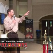 Image of Orlando Predators' HC Rob Keefe addressing Junior Predators Parents and Athletes