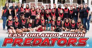 The 2015 East Orlando Jr Predators Cheer Squad